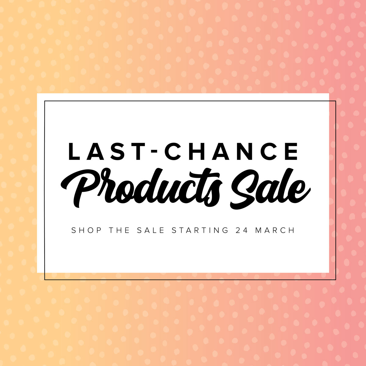 Last Chance Products!
